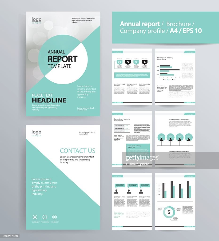 page layout for company profile, annual report, brochure,