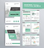 page layout for company profile, annual report,