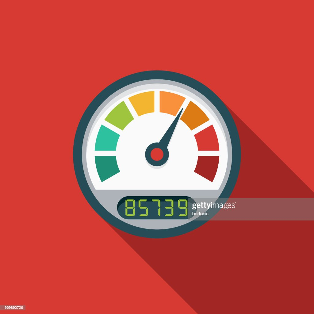 Page Load Speed Flat Design SEO Icon : stock illustration