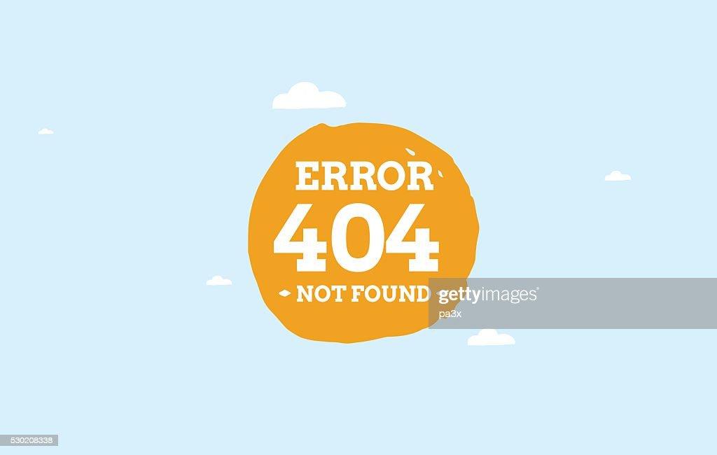 Page not found error. vector design