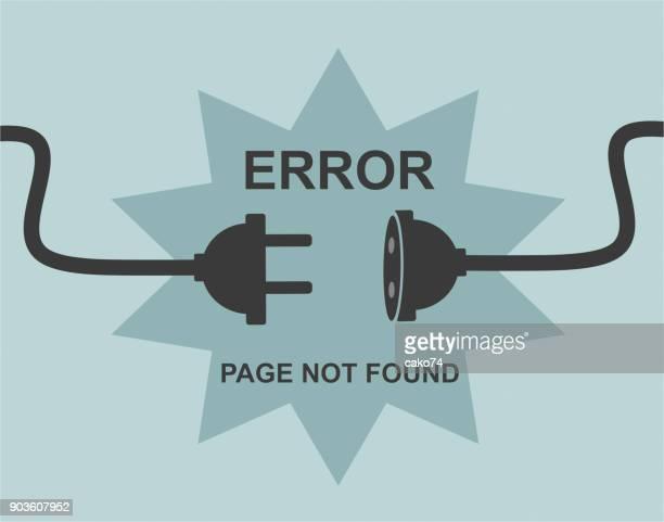 stockillustraties, clipart, cartoons en iconen met pagina niet gevonden - foutmelding