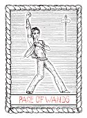 Page of wands. The tarot card.