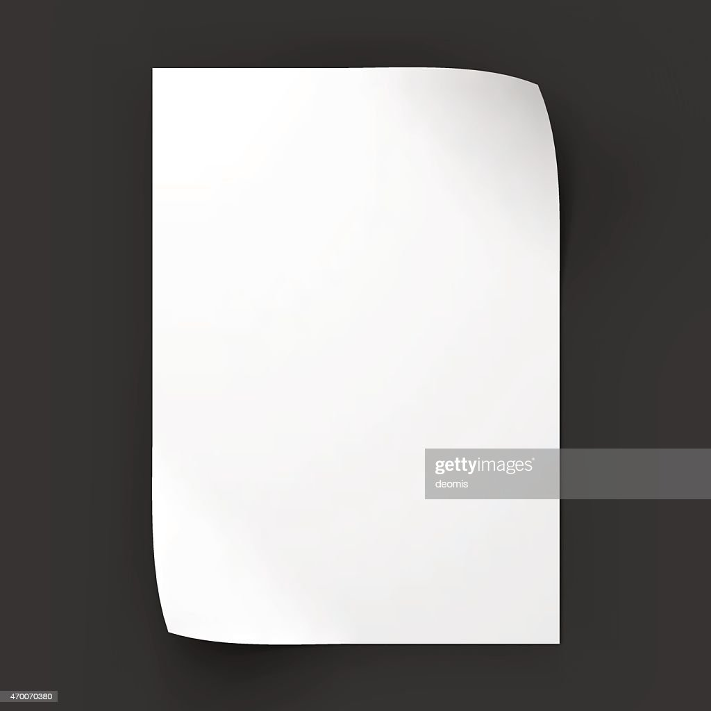 Page with curved corners. Business mockup template