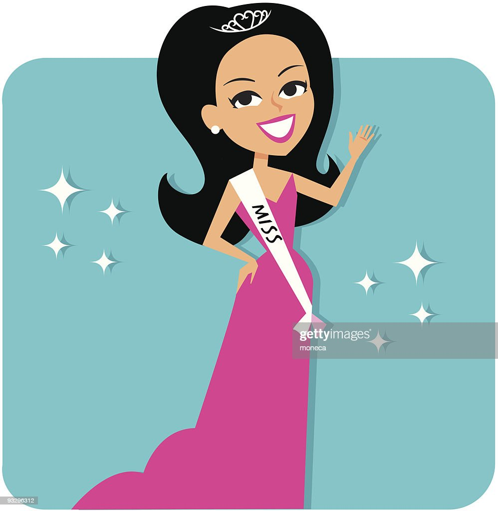 Pageant Contest Girl in pink gown