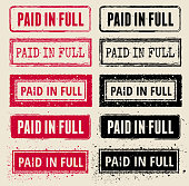 Paid in Full Vector Rubber Stamp Collections