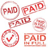 Paid Rubber Stamps
