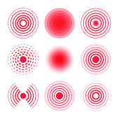 Pain circles collection. Radial targets.