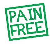 pain free stamp on white