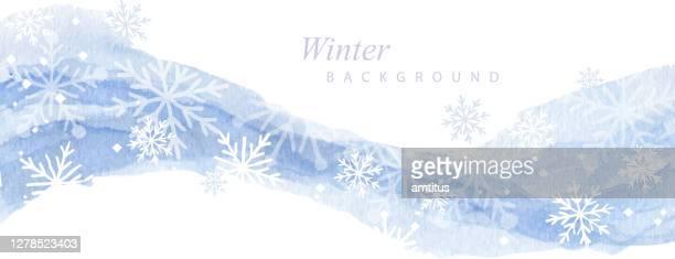 paint and snow - season stock illustrations