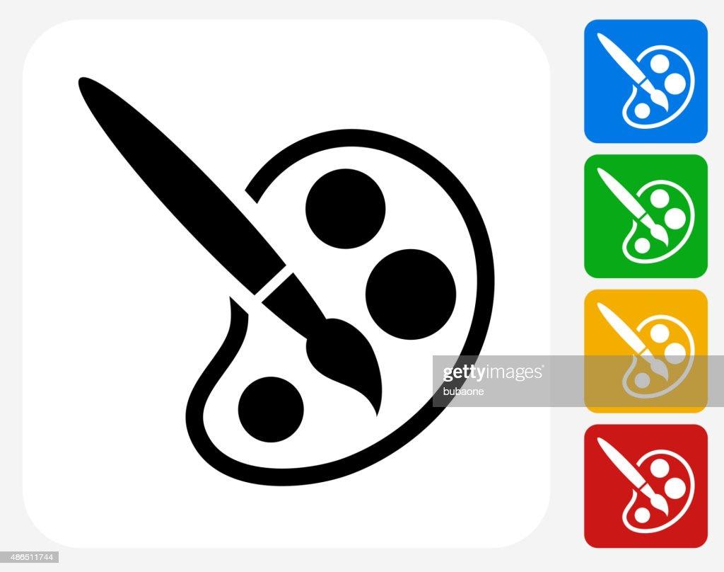 Paint Brush Icon Flat Graphic Design