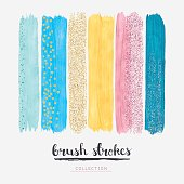 Paint brush strokes glitter