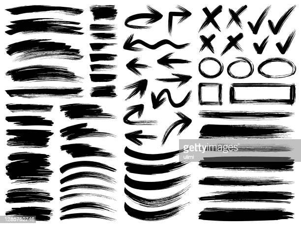pinselstriche malen - pinsel stock-grafiken, -clipart, -cartoons und -symbole