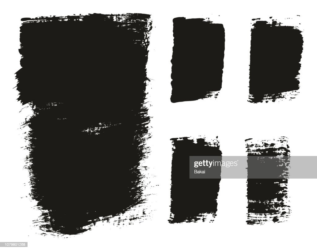 Paint Brush Wide Background & Lines High Detail Abstract Vector Background Mix Set 126