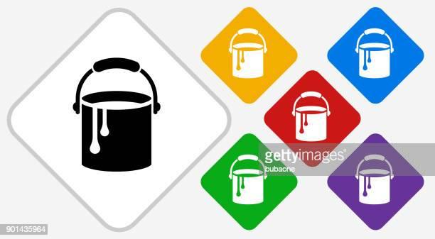 paint bucket color diamond vector icon - bucket stock illustrations, clip art, cartoons, & icons