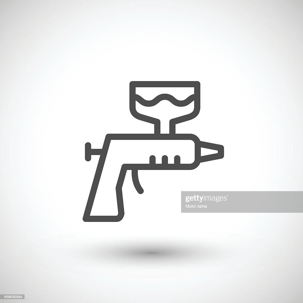 Paint gun line icon