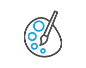 paint line icon illustration vector,paint icon illustration vector,paint line website icon