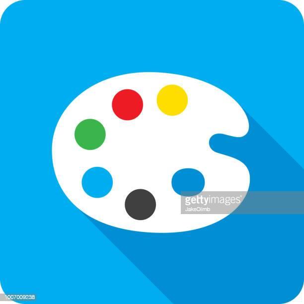 Paint Palette Icon Silhouette