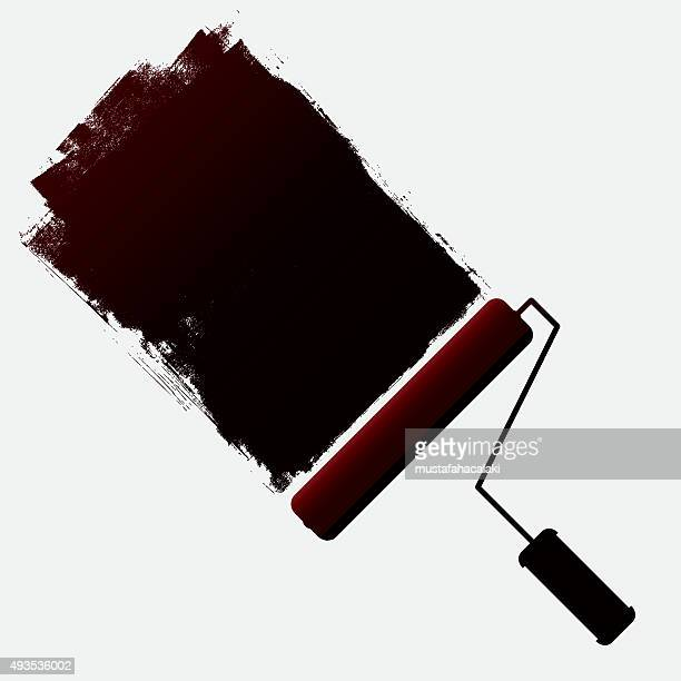 Paint roller and grunge paint