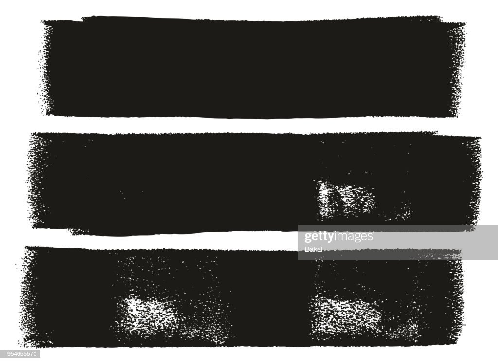 Paint Roller Bold Lines High Detail Abstract Vector Lines & Background Set 03