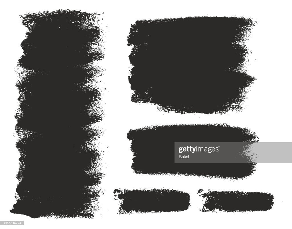 Paint Roller Strokes Vector Patterns & Vector Backgrounds Set 01