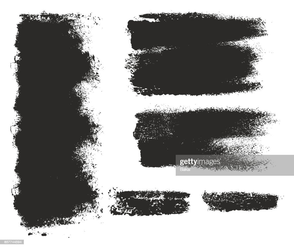 Paint Roller Strokes Vector Patterns & Vector Backgrounds Set 02