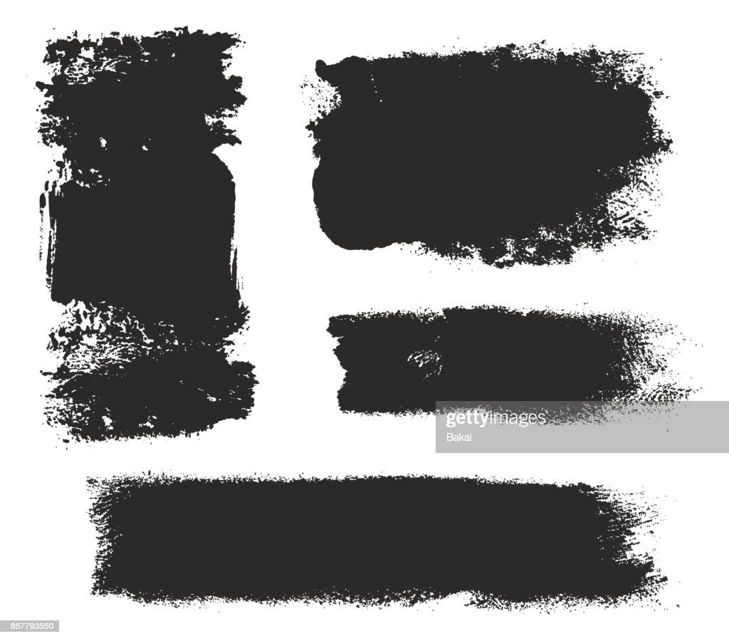 Paint Roller Strokes Vector Patterns & Vector Backgrounds Set 03