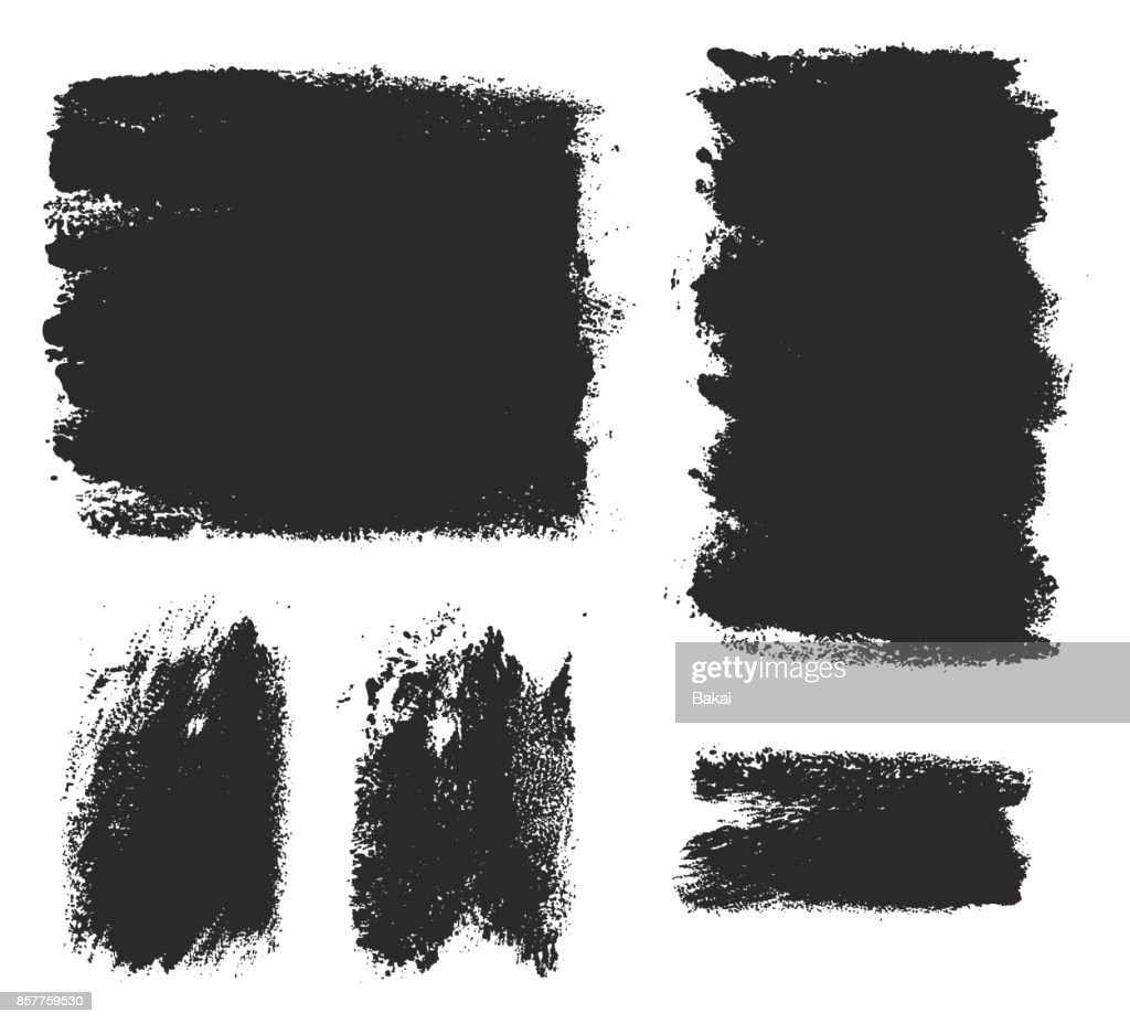 Paint Roller Strokes Vector Patterns & Vector Backgrounds Set 04
