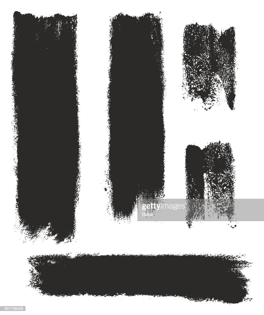 Paint Roller Strokes Vector Patterns & Vector Backgrounds Set 05
