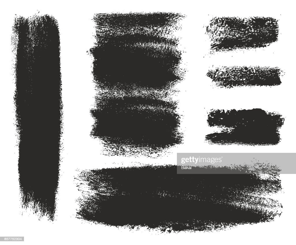 Paint Roller Strokes Vector Patterns & Vector Backgrounds Set 06