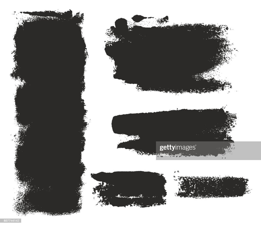 Paint Roller Strokes Vector Patterns & Vector Backgrounds Set 07