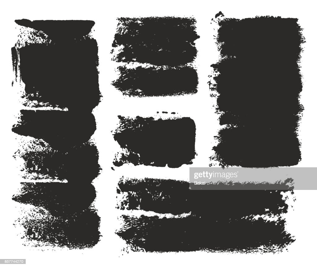 Paint Roller Strokes Vector Patterns & Vector Backgrounds Set 08