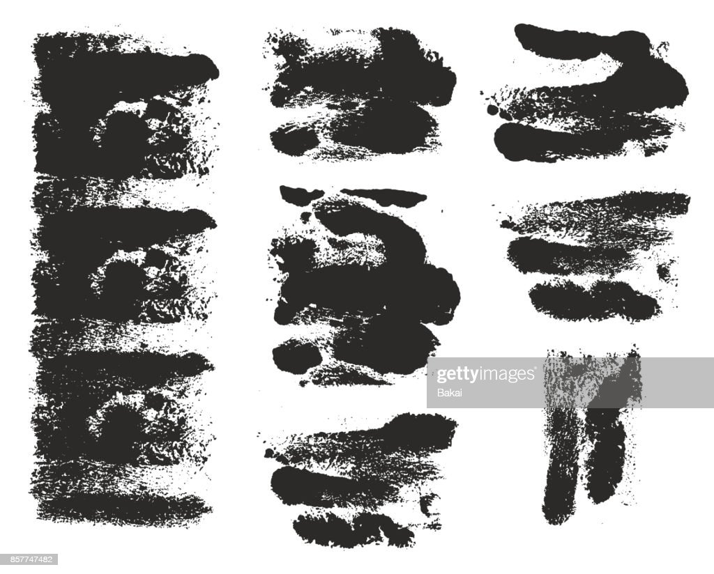 Paint Roller Strokes Vector Patterns & Vector Backgrounds Set 09