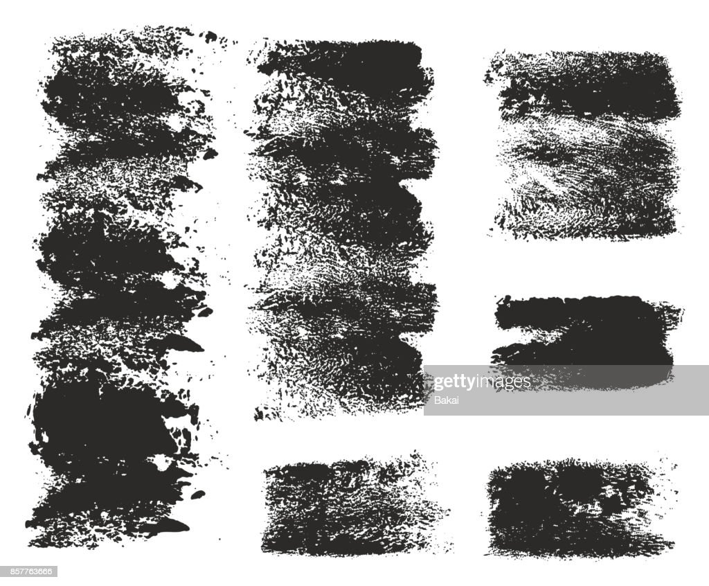 Paint Roller Strokes Vector Patterns & Vector Backgrounds Set 10