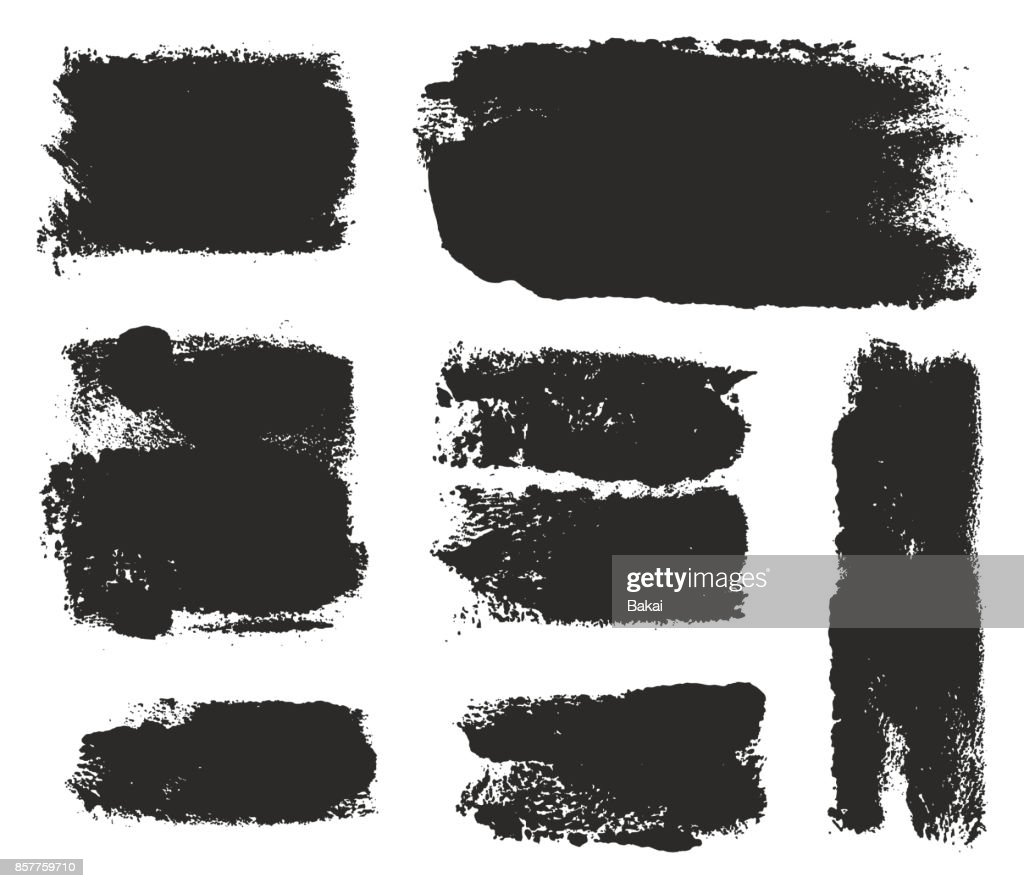 Paint Roller Strokes Vector Patterns & Vector Backgrounds Set 11