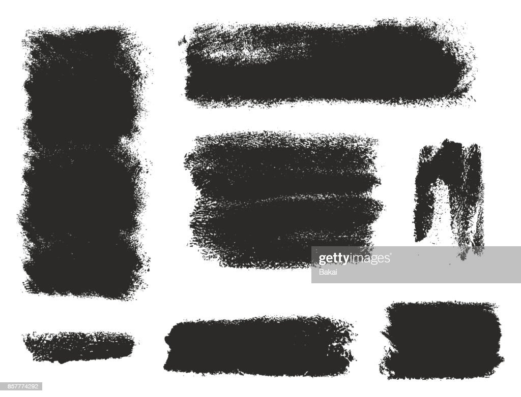 Paint Roller Strokes Vector Patterns & Vector Backgrounds Set 12