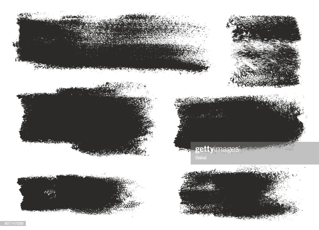 Paint Roller Strokes Vector Patterns & Vector Backgrounds Set 13