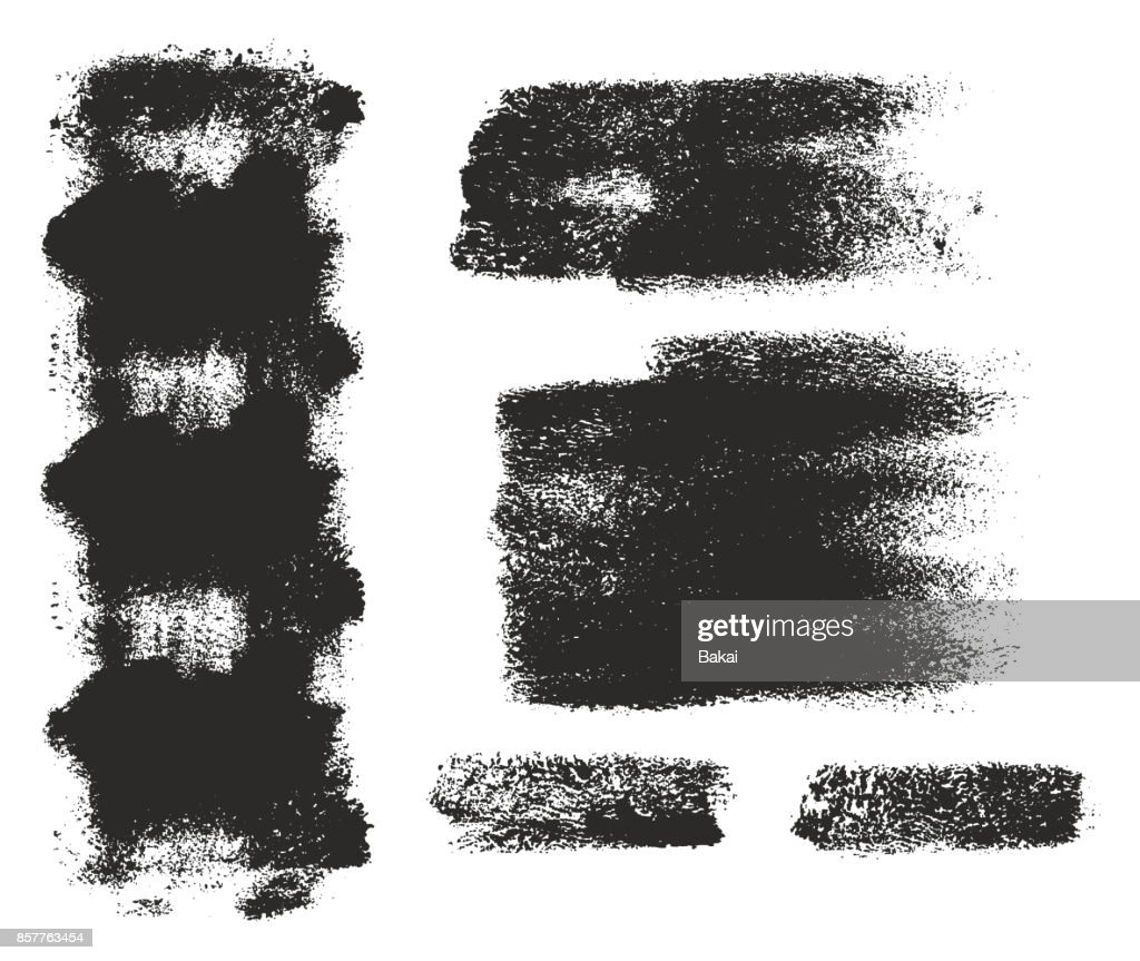 Paint Roller Strokes Vector Patterns & Vector Backgrounds Set 15