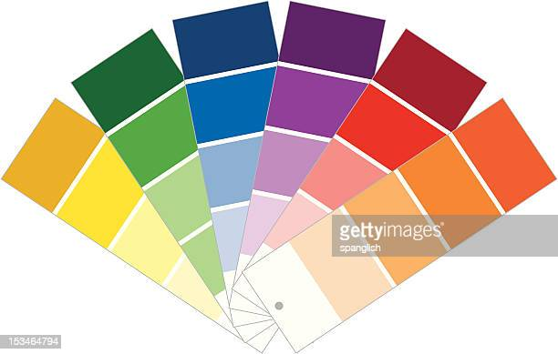 paint samples - color swatch stock illustrations