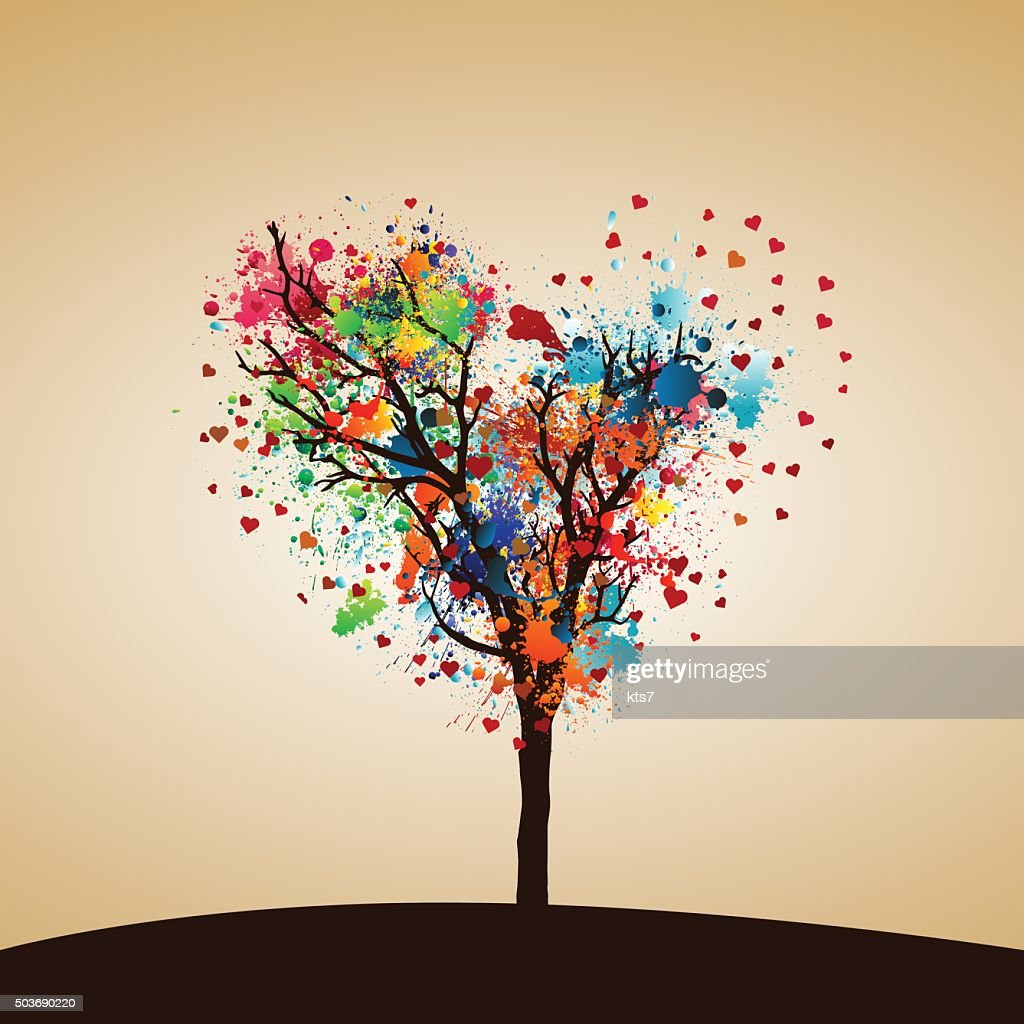 Paint splash tree