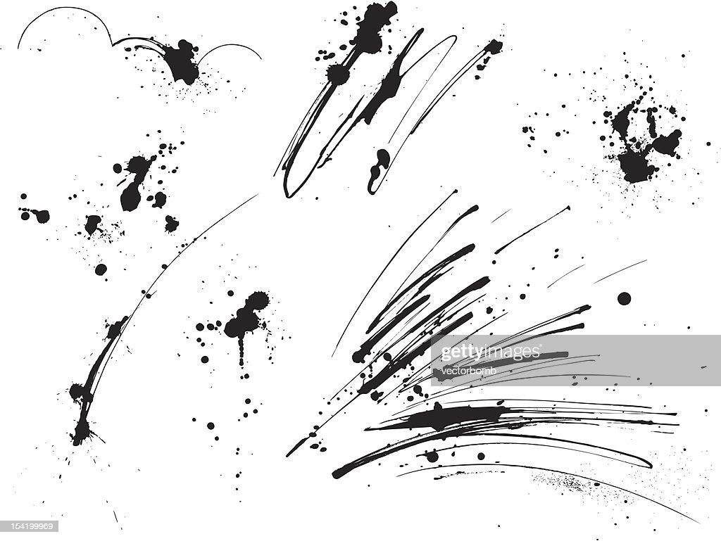 Paint Splatters: Elements I