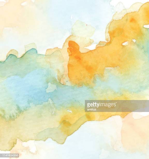 paint stain on white - watercolor background stock illustrations