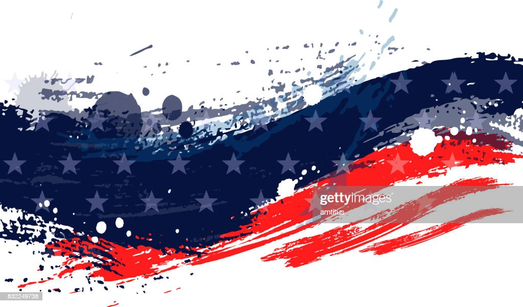 Paint stroke american flag