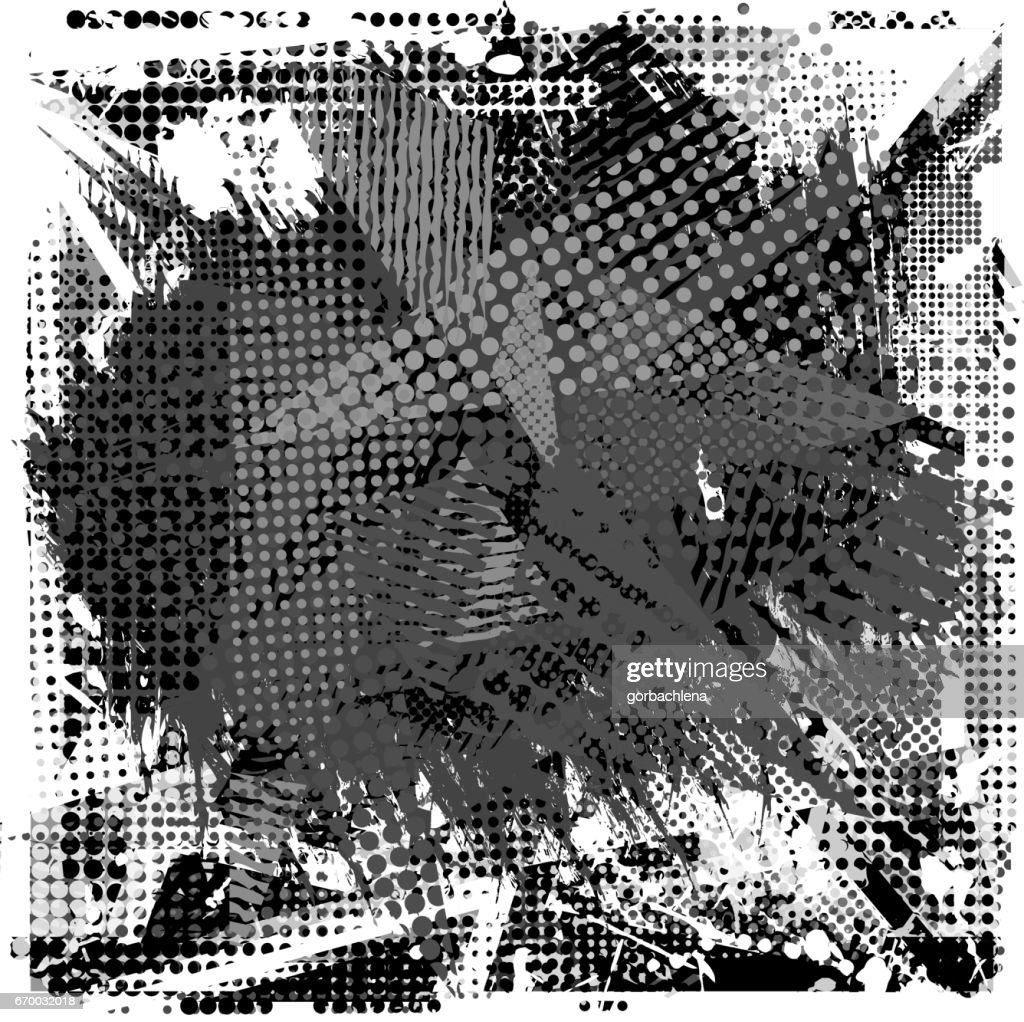 Paint Stroke Copy Space On Abstract Urban Pattern Grunge