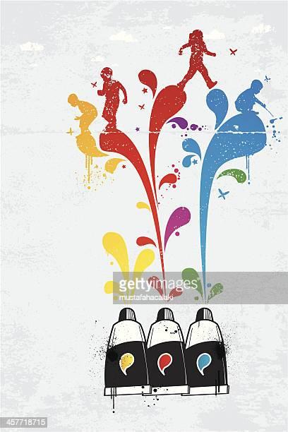 Tubos de tinta graffiti