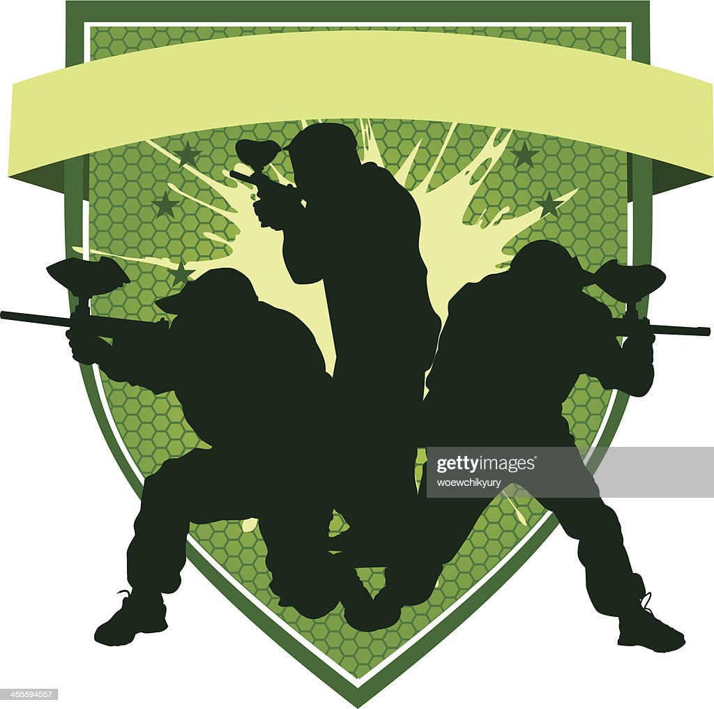 Paintball emblem (green)