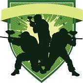 Paintball emblem (green)