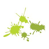 Paintball green blots flat icon