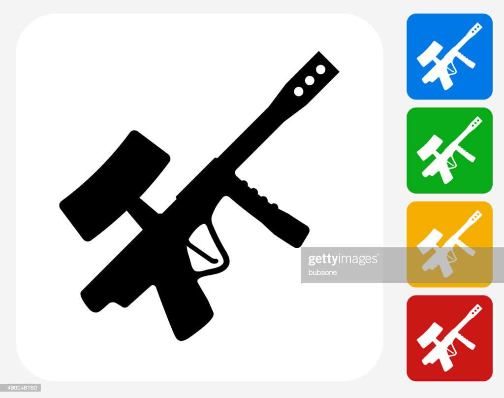 Paintball Gun Icon Flat Graphic Design High Res Vector Graphic Getty Images