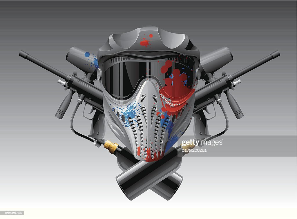 Paintball mask & guns