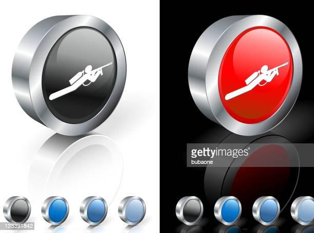 paintball player 3d royalty free vector art - machine gun stock illustrations, clip art, cartoons, & icons